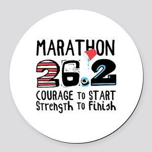 Marathon Courage Round Car Magnet