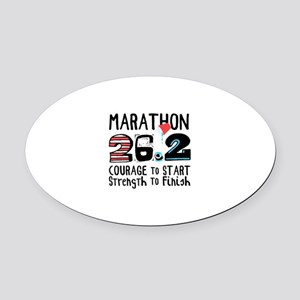 Marathon Courage Oval Car Magnet