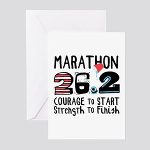 Marathon Courage Greeting Cards