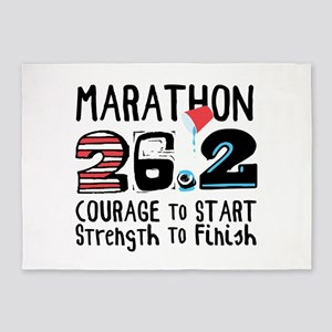 Marathon Courage 5'x7'Area Rug