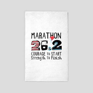 Marathon Courage Area Rug