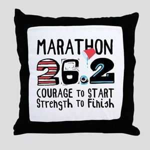 Marathon Courage Throw Pillow