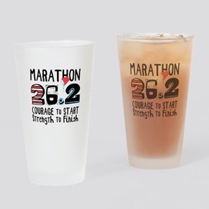 Marathon Courage Drinking Glass