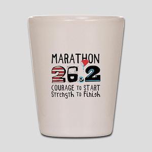 Marathon Courage Shot Glass