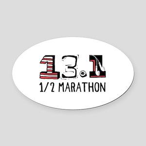 1/2 Marathon Oval Car Magnet