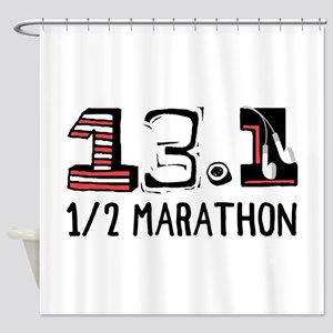 1/2 Marathon Shower Curtain