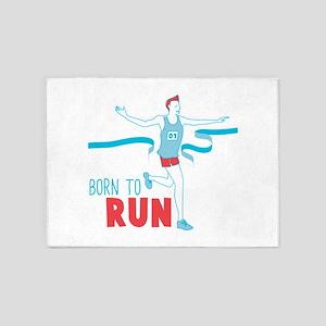 Born To Run 5'x7'Area Rug
