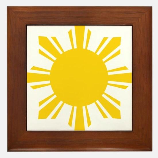 Cute Filipino Framed Tile
