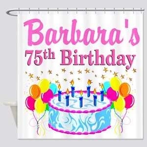 75TH CELEBRATION Shower Curtain