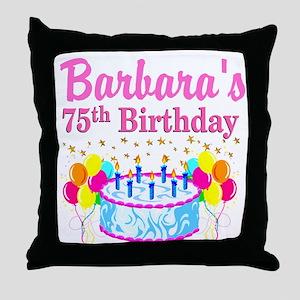 75TH CELEBRATION Throw Pillow