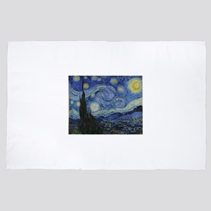 Vincent Van Gogh Starry Night 4' x 6' Rug
