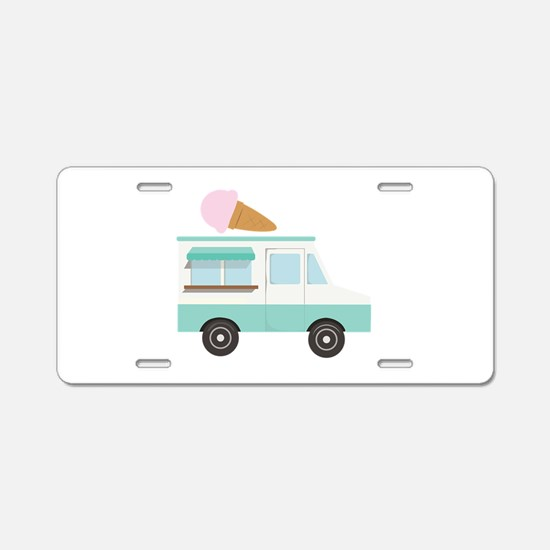 Ice Cream Truck Aluminum License Plate