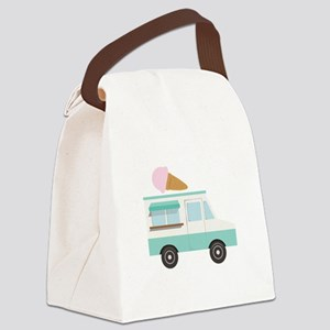 Ice Cream Truck Canvas Lunch Bag