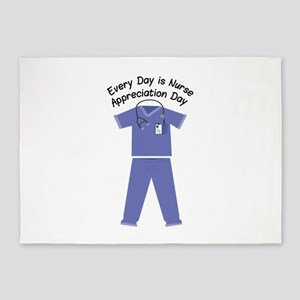 Nurse Appreciation Day 5'x7'Area Rug