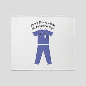 Nurse Appreciation Day Throw Blanket
