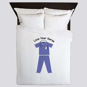 Love Your Nurse Queen Duvet