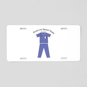 Patient People Aluminum License Plate