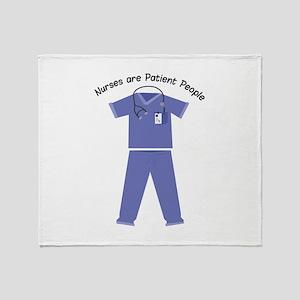 Patient People Throw Blanket