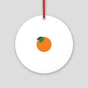 Round Orange Ornament (Round)
