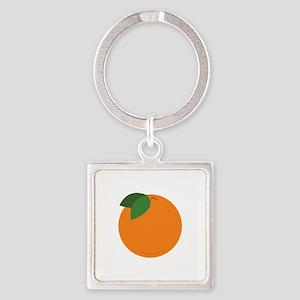 Round Orange Keychains