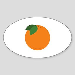 Round Orange Sticker