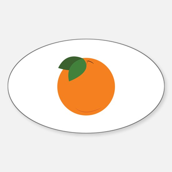Round Orange Decal