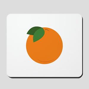 Round Orange Mousepad