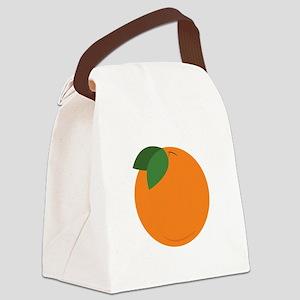 Round Orange Canvas Lunch Bag