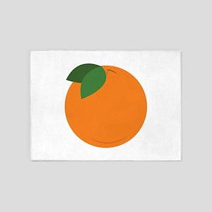 Round Orange 5'x7'Area Rug
