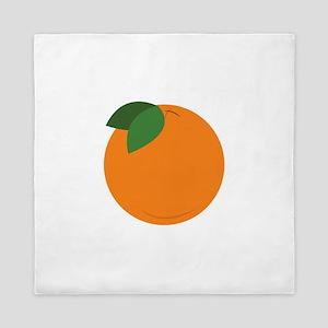 Round Orange Queen Duvet