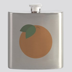 Round Orange Flask