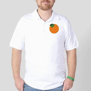 Round Orange Golf Shirt