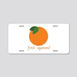 Fresh Squeezed Aluminum License Plate