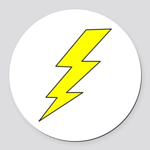 LIGHTENING BOLT Round Car Magnet
