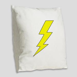 LIGHTENING BOLT Burlap Throw Pillow