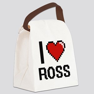 I Love Ross Canvas Lunch Bag