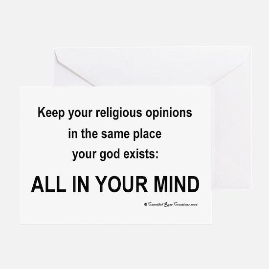 Mindless Mind Greeting Card