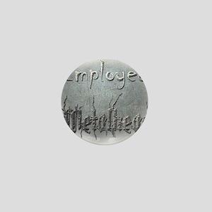 Employed Metalhead Mini Button
