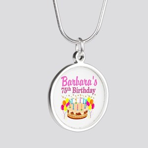 75TH CELEBRATION Silver Round Necklace