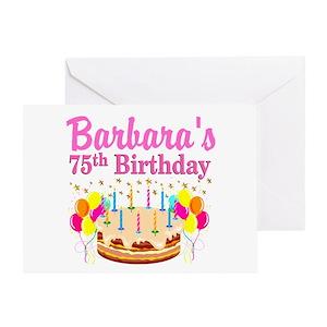 75th Birthday Stationery