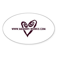 MW Heart Logo Oval Decal