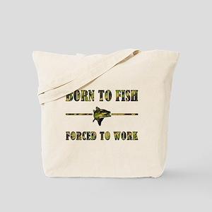 BORN TO FISH Tote Bag