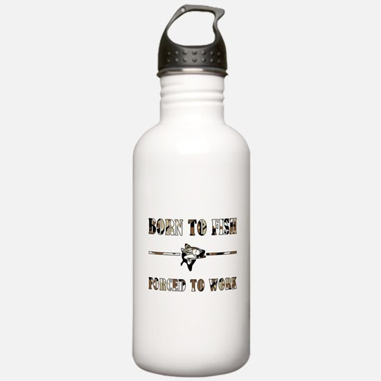 BORN TO FISH Water Bottle