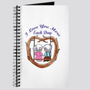 LOVE YOU MORE EACH DAY Journal
