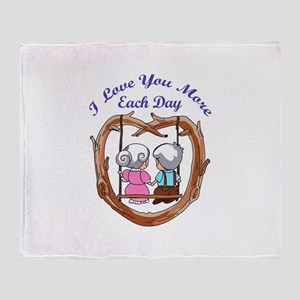 LOVE YOU MORE EACH DAY Throw Blanket