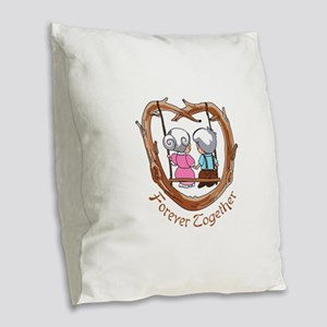 FOREVER TOGETHER Burlap Throw Pillow