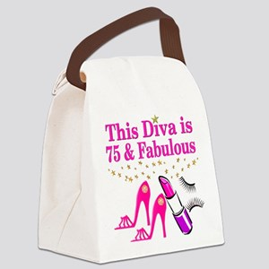 75 AND FABULOUS Canvas Lunch Bag