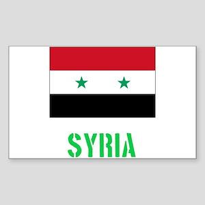 Syria Flag Stencil Green Design Sticker