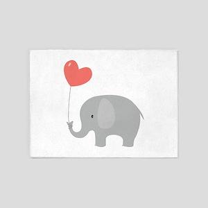 Love Elephant 5'x7'Area Rug