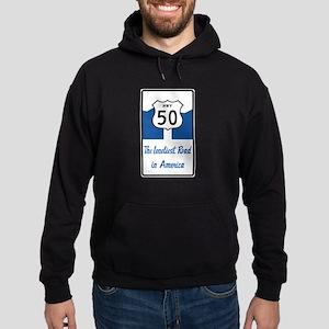 Highway 50, Loneliest in America, Ne Hoodie (dark)